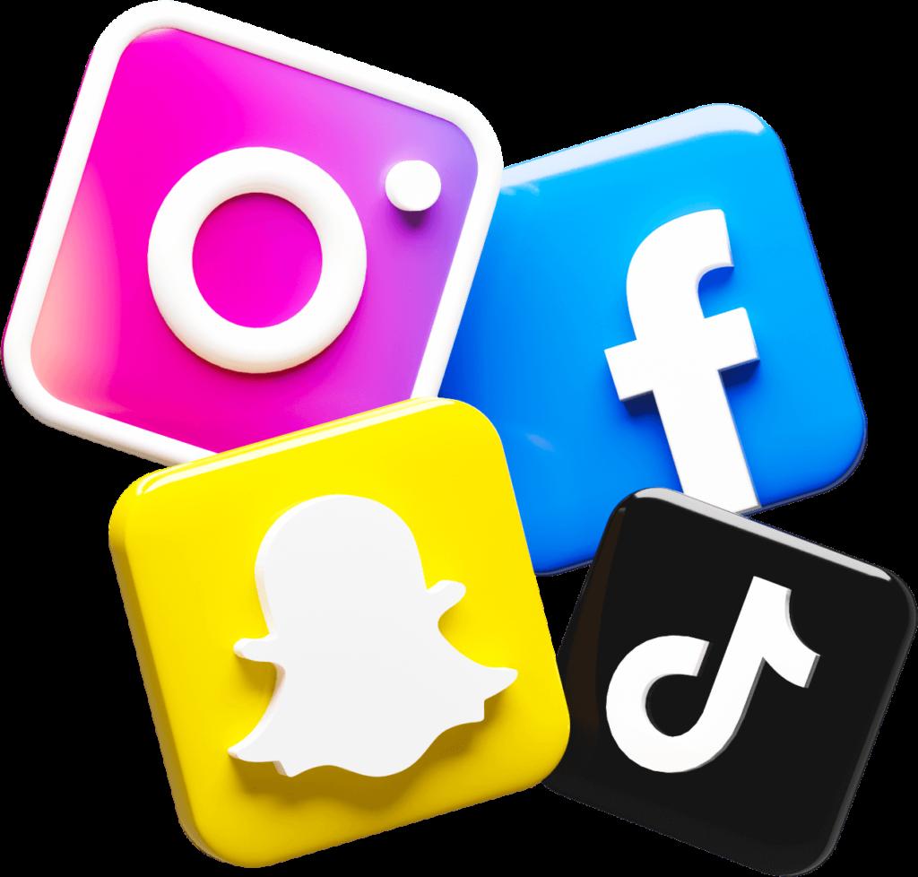 AR Social Media Icons